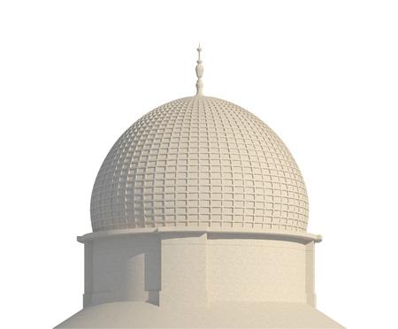 Original design Middle East building isolated on white background 3d illustration Imagens