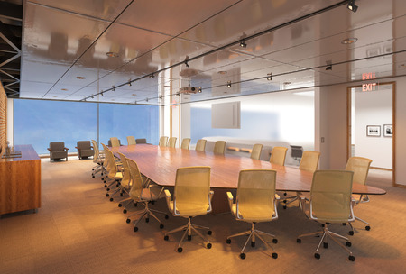 Office Photorealistic Render. 3D illustration. Meeting room. Standard-Bild - 119335486