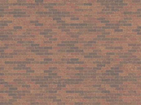 Brick wall background texture or wallpaper illustration Banco de Imagens