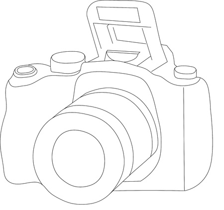 schematically: camera Illustration