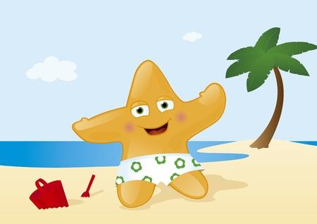 vacation at tropical summer beach Vector