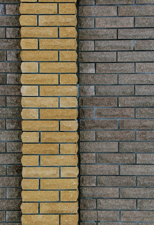 interspersed: wall of bricks,wall fence brick two types, build, interior and construction