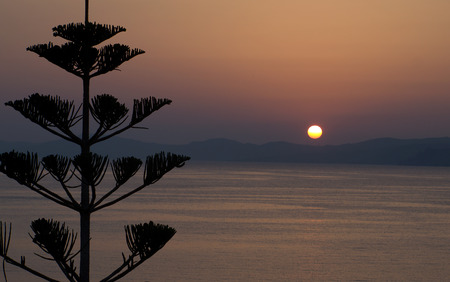 Agios Nikolaos Crete sunrise in the morning