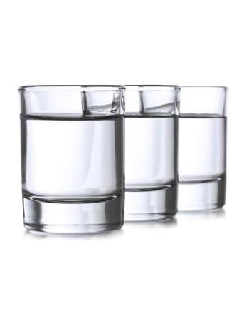 Three full shots with vodka