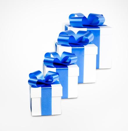 Four gift boxes photo