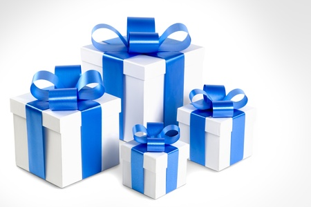 four objects: Four gift boxes Stock Photo