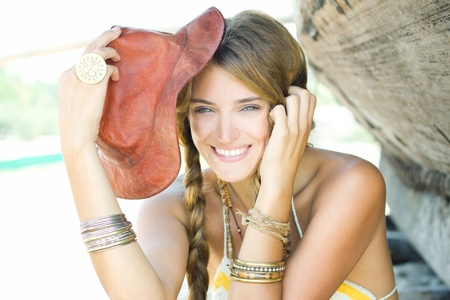 Happy young lady Stock Photo - 11073434
