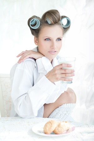 curlers: Milk and cookies morning