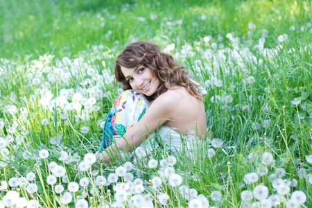 country girl: Lost in dandelions