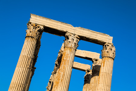 Ancient Temple of Zeus, Olympeion, Athens, Greece. Stock Photo