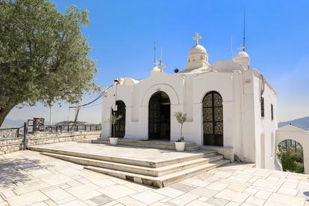 Saint Georges chapel on top of Mount Lycabettus in Athens, Greece. 版權商用圖片