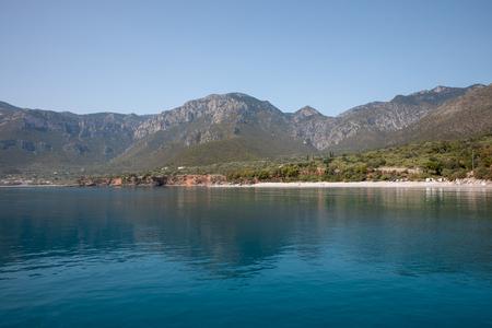 Amazing landscape of the Agia Kyriaki beach in the Kiparissi Lakonia village, Peloponnese, Zorakas Bay, Greece, May 2019. Reklamní fotografie