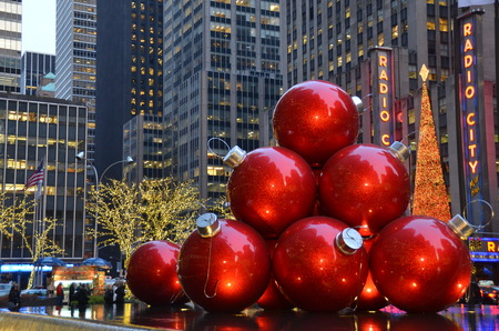 Giant Christmas Ornaments, New York