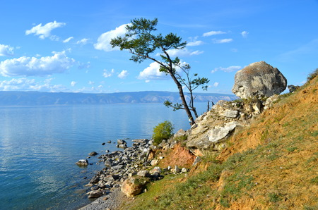 Lake Baikal in Olkhon Island, Russia photo