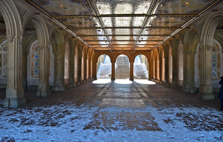 The pedestrian underpass at Bethesda Terrace, Central Park, New York City