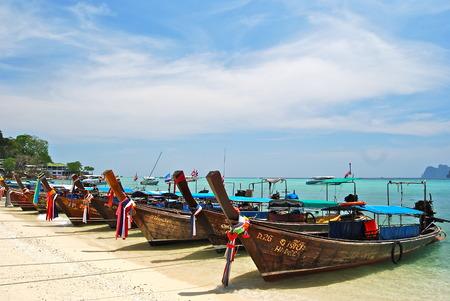 long tailed boat: Long tailed boat Ruea Hang Yao in Phi Phi island Thailand Editorial