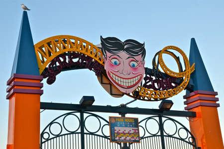 Coney Island s entrance sign, New York