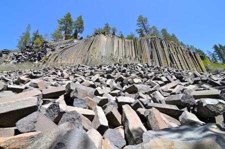 pacific crest trail: Devil s Postpile National Monument, California, USA   Stock Photo