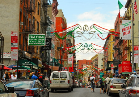 Historic Little Italy in Lower Manhattan on June 17, 2008, NYC, USA. Redactioneel