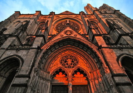 Cathedral of Saint John the Divine in Morningside Heights, New York City, USA. photo