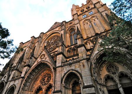 Cathedral of Saint John the Divine in Morningside Heights, New York City, USA.