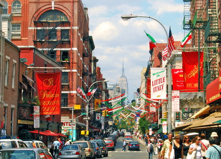 Historic Little Italy in Lower Manhattan on June 17, 2008, NYC, USA.