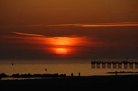 Océan de Brighton Beach, New York, USA. Banque d'images - 32250999