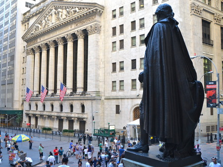 Federal Hall, Wall street, New York City, USA Éditoriale