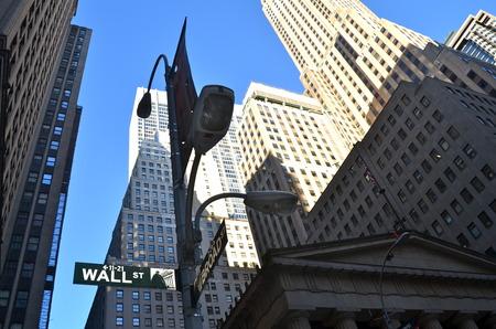 new york stock exchange: Wall street, New York City, USA