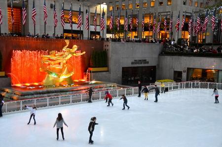 skaters: Rockefeller Center Ice skaters, New York City
