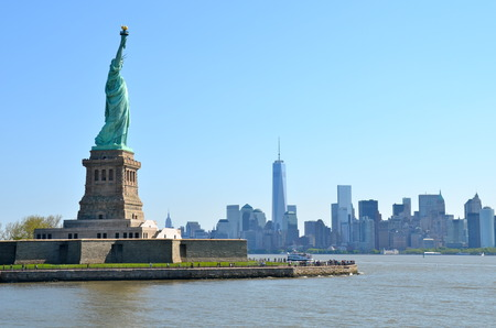 liberty island: The Statue of Liberty in New York City