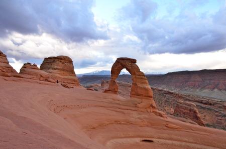 southwest: Sandstone Formation Desert Southwest Arches National Park, Utah, USA Stock Photo