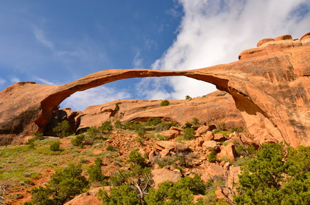north window arch: Beautiful Arches National Park, Utah, USA Stock Photo
