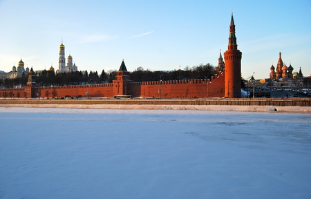 Moscow Kremlin in the winter, Moscow, Russia. photo