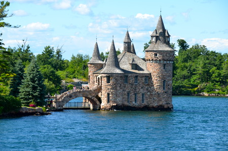 Boldt Castle Power House, One Thousand islands, New York State, USA.