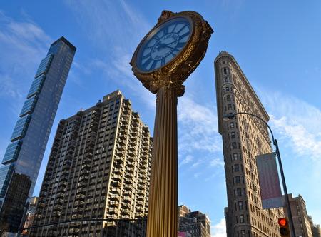 Manhattan skyline and the Flatiron Building, Manhattan, New York City, USA. Editorial