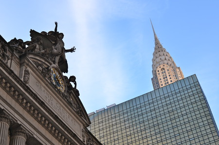 Chrysler Building and the Grand Central Terminal, New York City, USA. Editorial