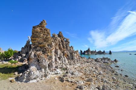 spires: Tufa spires rising out of Mono Lake, California, USA Stock Photo