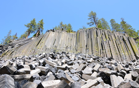 pacific crest trail: Devil Postpile National Monument, California, USA.