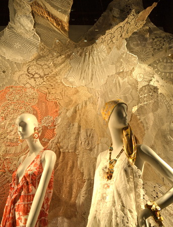 window display: Window display at Bergdorf Goodman in NYC on February 17, 2015. Editorial