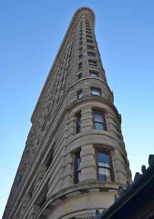 broadway tower: New York City Manhattan midtown view and the Flatiron Building, New York City, USA.