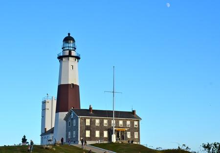 montauk: Montauk lighthouse on the Atlantic Ocean at the eastern tip of Long Island, New York