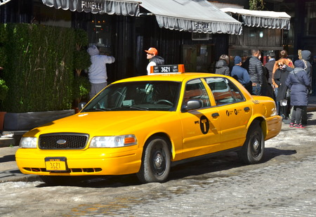 Yellow taxi, New York City, USA.
