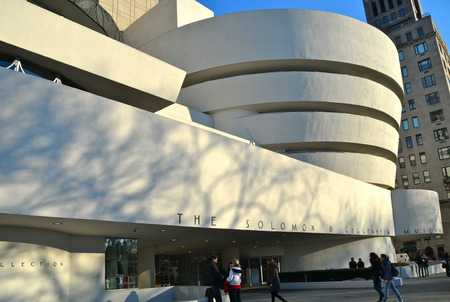 r: The Guggenheim Museum in New York City, USA Editorial
