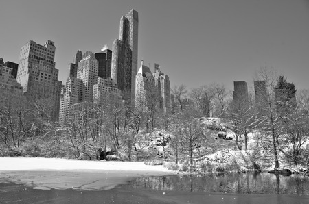 Central Park in the winter, Manhattan, New York City, USA.