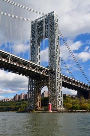 hudson: George Washington Bridge over Hudson River, New York City, USA Stock Photo