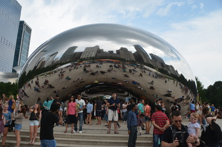 famous industries: Millenium park in Chicago, IL, USA.