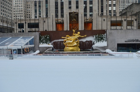 Rockefeller Center Ice Skating, Manhattan, New York City, USA. 版權商用圖片