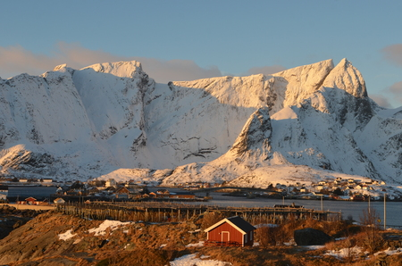 rorbuer: Lofoten islands, NorwayLofoten islands, Norway Stock Photo