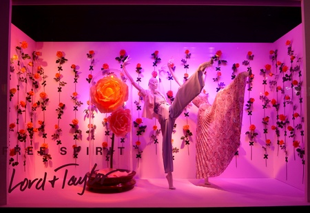 taylor: Window display at Lord Taylor in NYC on April 3, 2016.